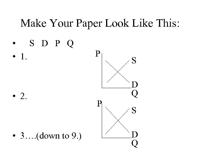 Make Your Paper Look Like This: • S D P Q • 1. •