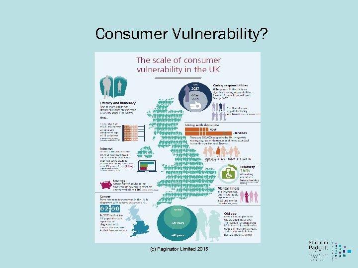 Consumer Vulnerability? (c) Paginator Limited 2015