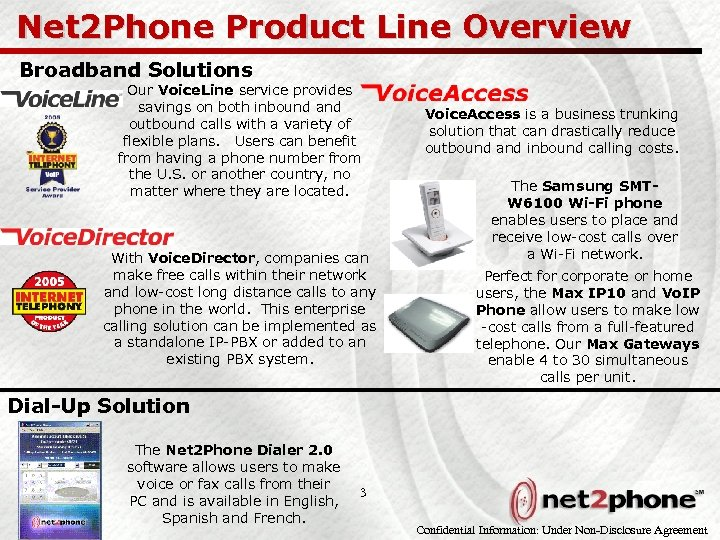 Net 2 Phone Product Line Overview Broadband Solutions Our Voice. Line service provides savings