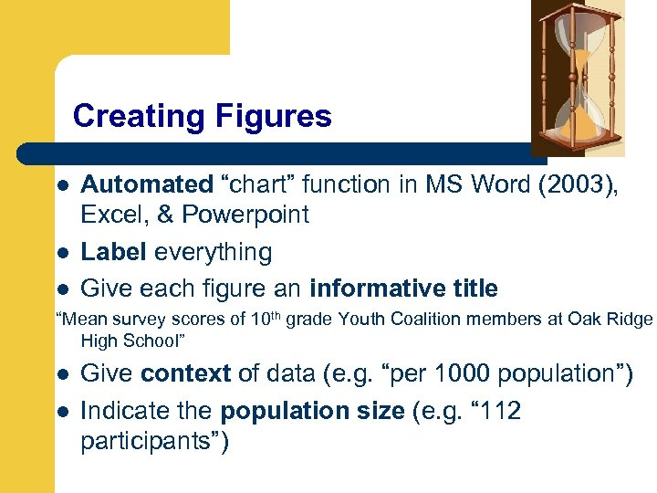 """Creating Figures l l l Automated """"chart"""" function in MS Word (2003), Excel, &"""