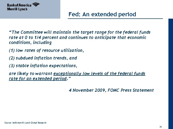"Fed: An extended period ""The Committee will maintain the target range for the federal"