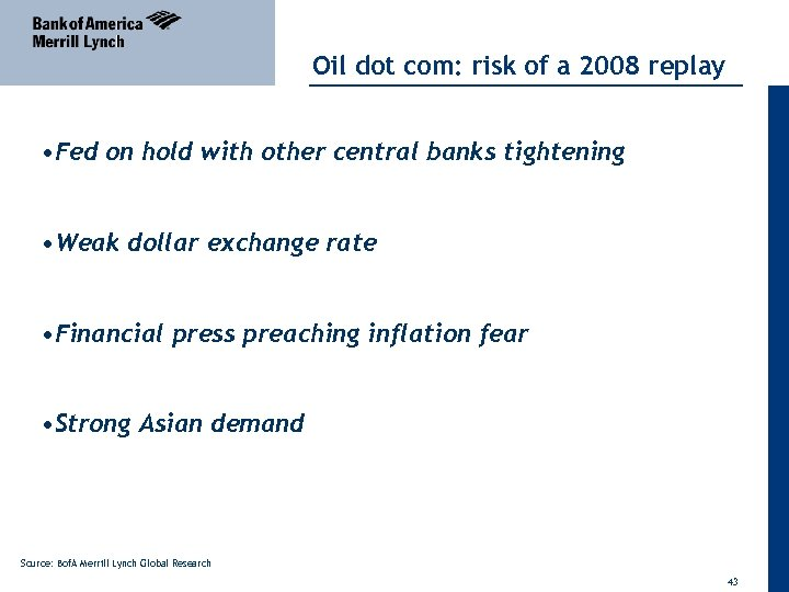 Oil dot com: risk of a 2008 replay • Fed on hold with other