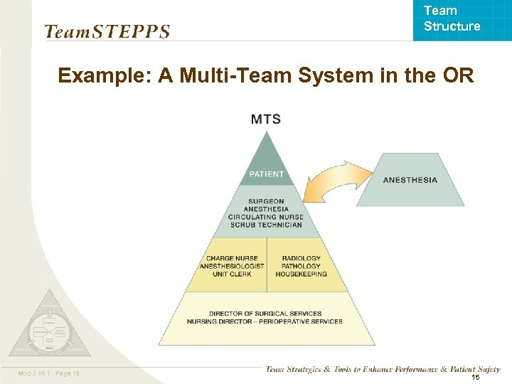 Team Structure Example: A Multi-Team System in the OR Mod 2 06. 1 Page
