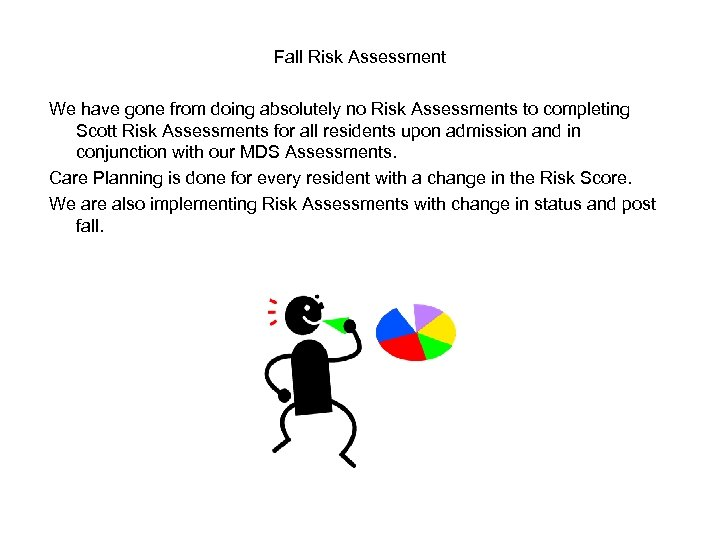 Fall Risk Assessment We have gone from doing absolutely no Risk Assessments to completing
