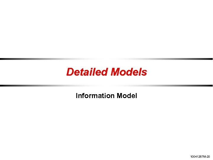 Detailed Models Information Model 10041267 M-20