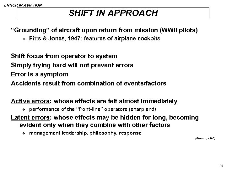 """ERROR IN AVIATION SHIFT IN APPROACH """"Grounding"""" of aircraft upon return from mission (WWII"""