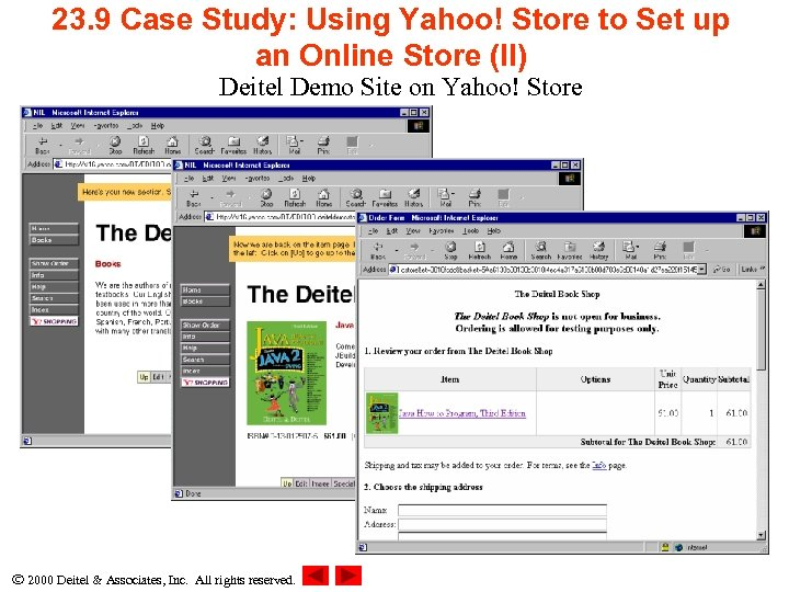 23. 9 Case Study: Using Yahoo! Store to Set up an Online Store (II)