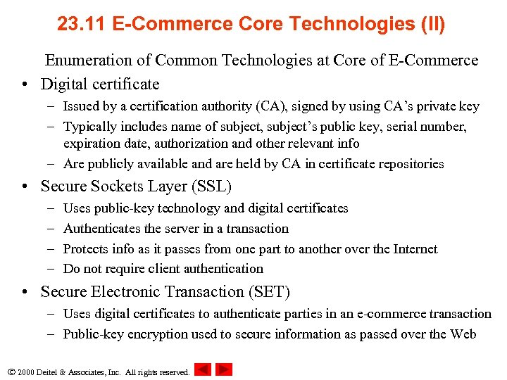 23. 11 E-Commerce Core Technologies (II) Enumeration of Common Technologies at Core of E-Commerce