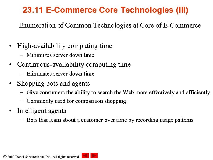 23. 11 E-Commerce Core Technologies (III) Enumeration of Common Technologies at Core of E-Commerce
