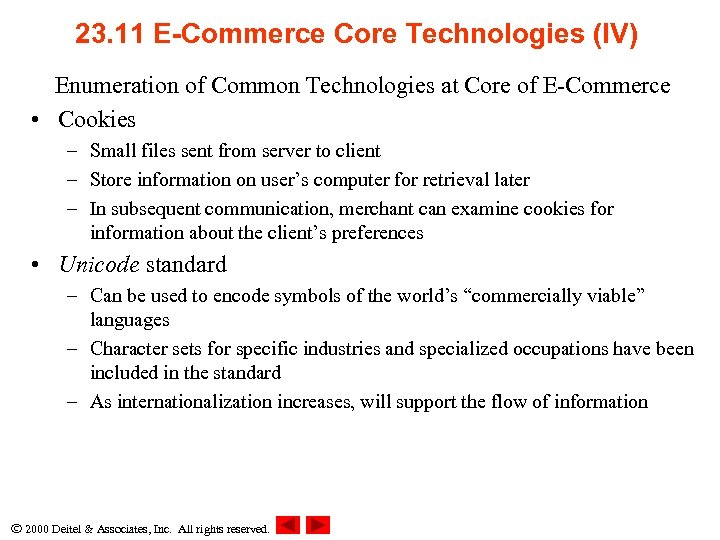 23. 11 E-Commerce Core Technologies (IV) Enumeration of Common Technologies at Core of E-Commerce