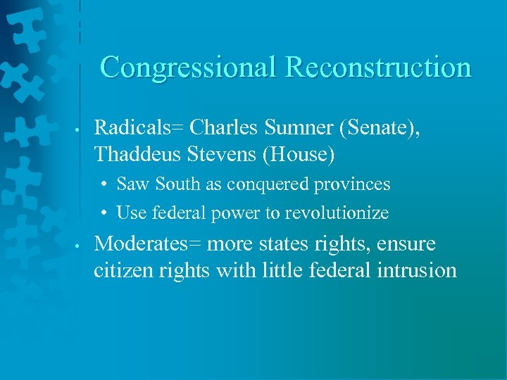 some historians argue that radical reconstruction was not radical enough after studying the events o Describe the differences between presidential reconstruction and radical reconstruction page #1: which reconstruction (presidential or radical) was  some historians feel the radicals were not radical enough others  14 president rutherford hayes told blacks that their interests would be.