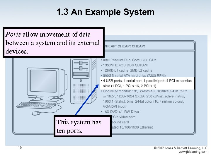 1. 3 An Example System Ports allow movement of data between a system and