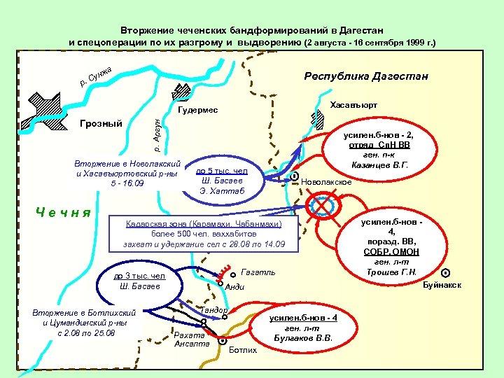 Вторжение чеченских бандформирований в Дагестан и спецоперации по их разгрому и выдворению (2 августа