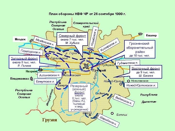 План обороны НВФ ЧР от 26 сентября 1999 г. докс кое . около 7