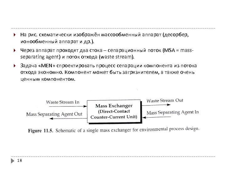 На рис. схематически изображён массообменный аппарат (десорбер, ионообменный аппарат и др. ). Через