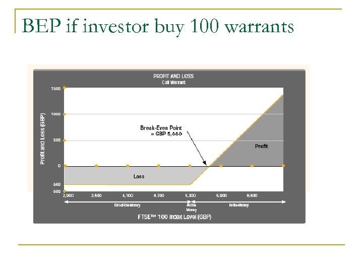 BEP if investor buy 100 warrants