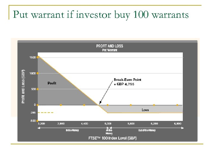 Put warrant if investor buy 100 warrants