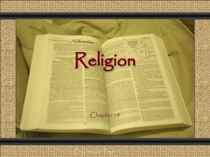 Comunicación y Gerencia Religion Chapter 19 Click to add Text