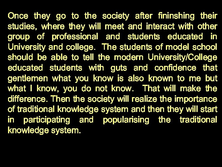 Once they go to the society after fininshing their studies, where they will meet
