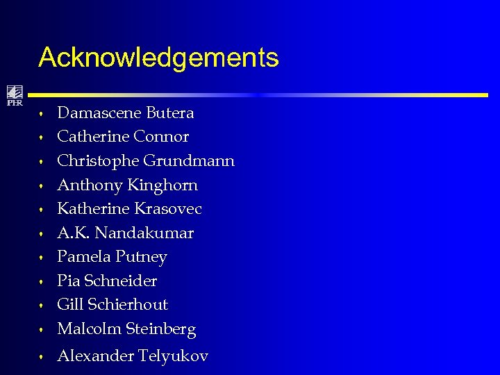 Acknowledgements s Damascene Butera Catherine Connor Christophe Grundmann Anthony Kinghorn Katherine Krasovec A. K.