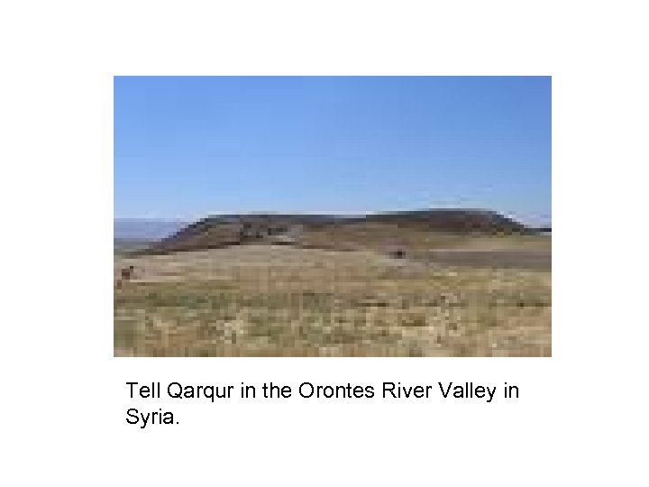 Tell Qarqur in the Orontes River Valley in Syria.
