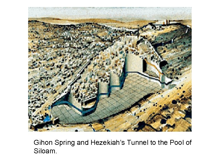 Gihon Spring and Hezekiah's Tunnel to the Pool of Siloam.