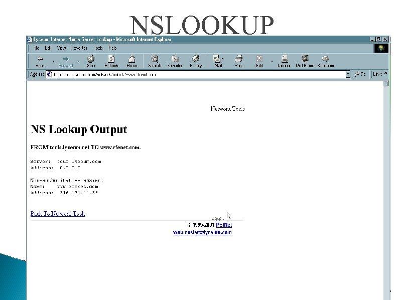 NSLOOKUP 43