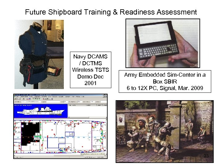 Future Shipboard Training & Readiness Assessment Navy DCAMS / DCTMS Wireless TSTS Demo Dec