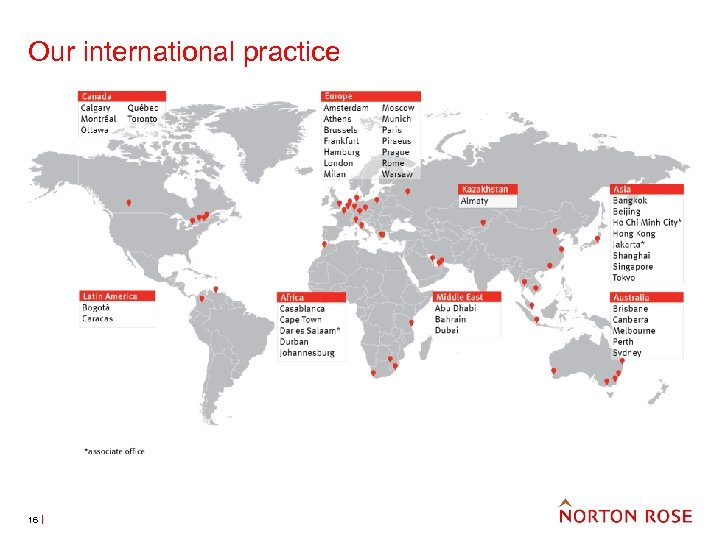 Our international practice 16