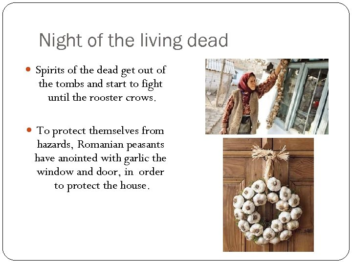 Night of the living dead Spirits of the dead get out of the tombs