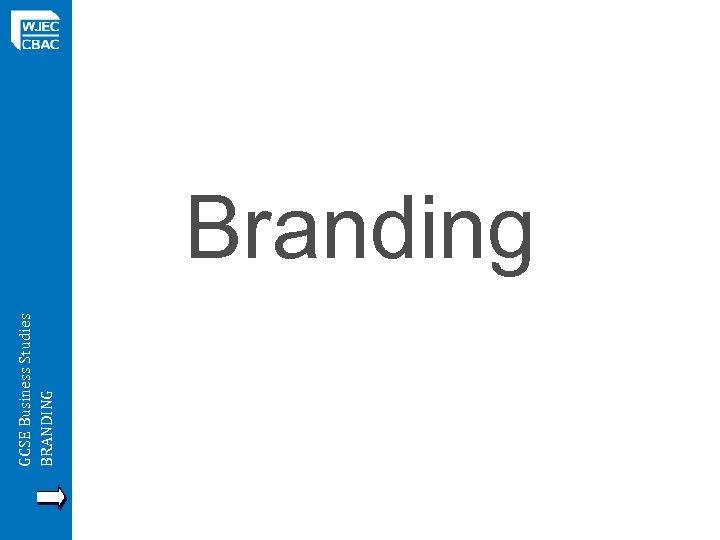 GCSE Business Studies BRANDING Branding