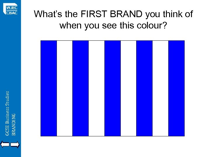 GCSE Business Studies BRANDING What's the FIRST BRAND you think of when you see
