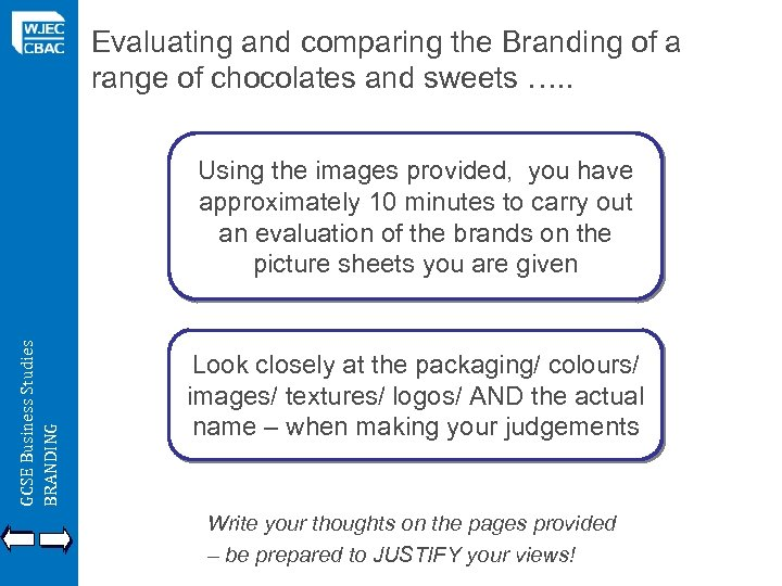 Evaluating and comparing the Branding of a range of chocolates and sweets …. .