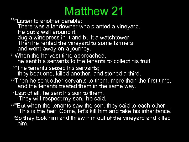 Matthew 21 33