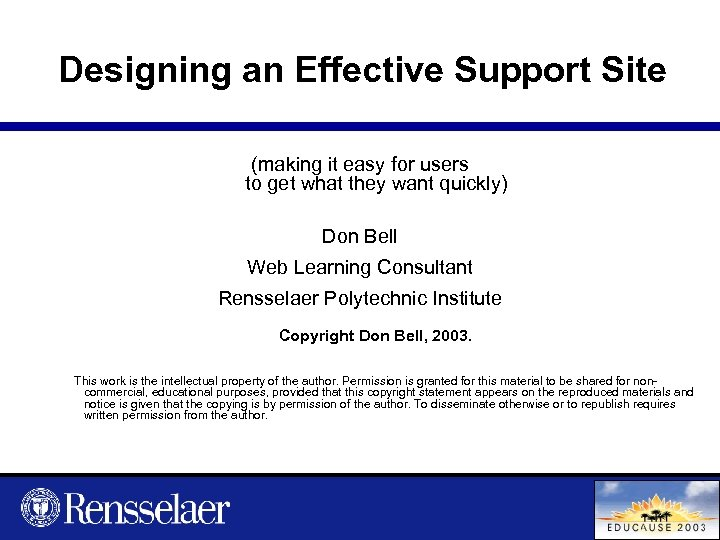 Designing an Effective Support Site (making it easy for users to get what they
