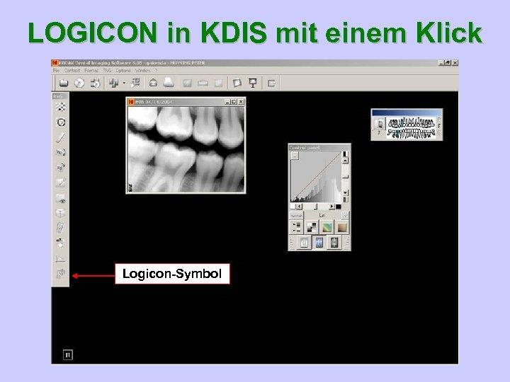 LOGICON in KDIS mit einem Klick Logicon-Symbol