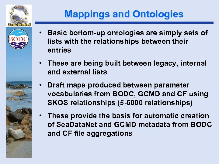 Mappings and Ontologies • Basic bottom-up ontologies are simply sets of lists with the