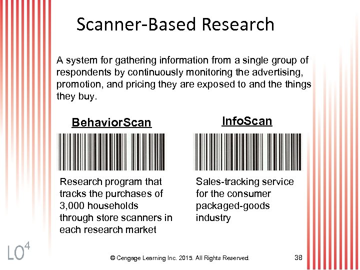 Scanner-Based Research A system for gathering information from a single group of respondents by
