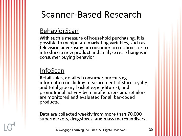 Scanner-Based Research Behavior. Scan With such a measure of household purchasing, it is possible