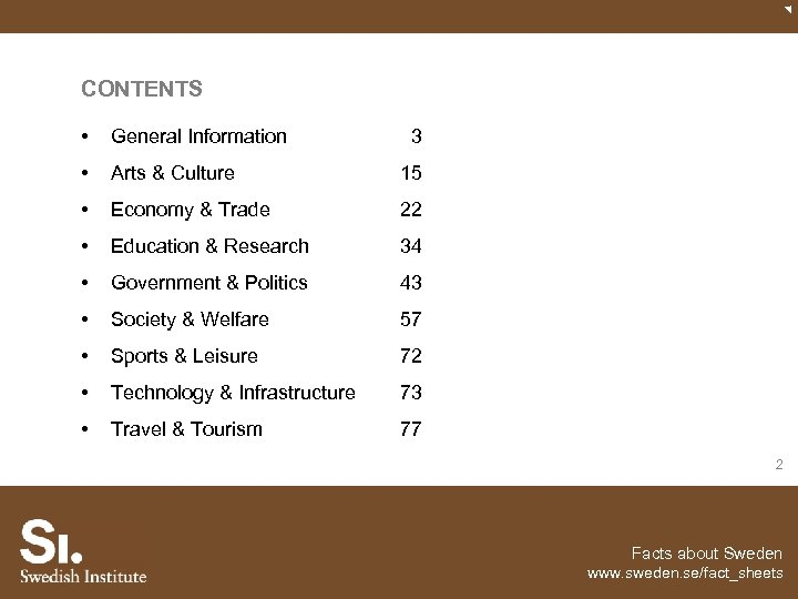 CONTENTS • General Information • Arts & Culture 15 • Economy & Trade 22
