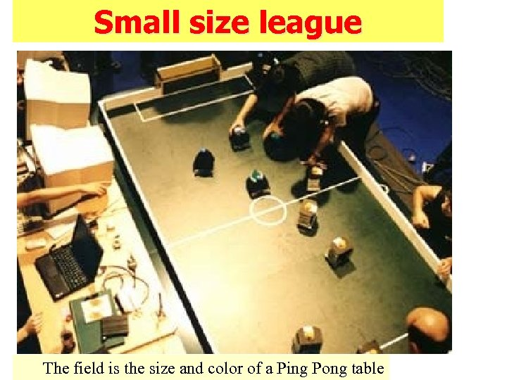 Small size league The field is the size and color of a Ping Pong