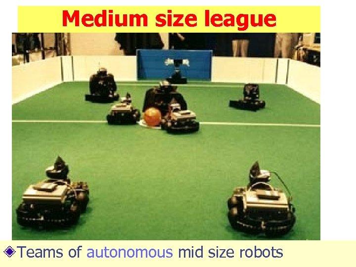 Medium size league Teams of autonomous mid size robots