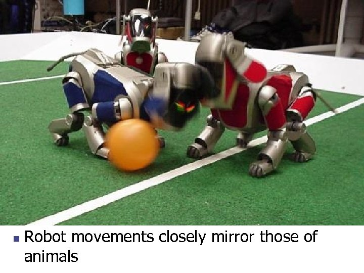 n Robot movements closely mirror those of animals