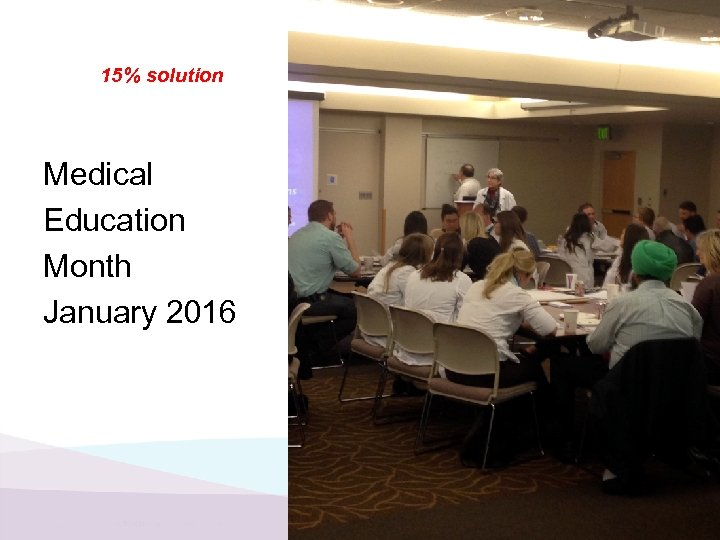 15% solution Medical Education Month January 2016