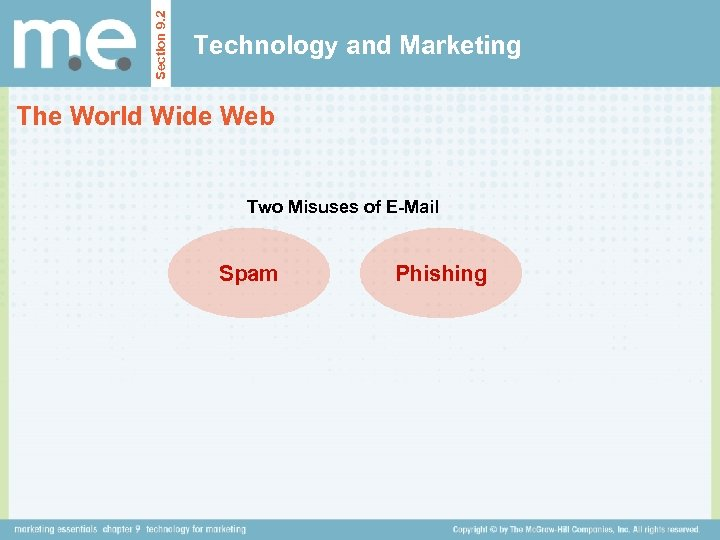 Section 9. 2 Technology and Marketing The World Wide Web Two Misuses of E-Mail
