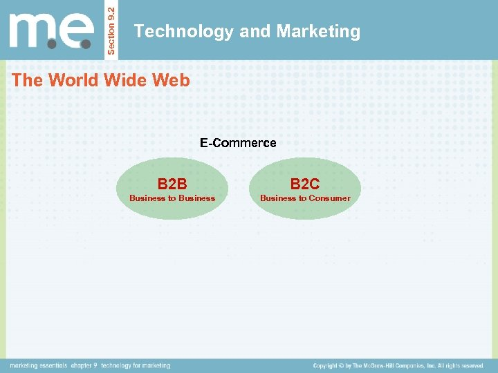 Section 9. 2 Technology and Marketing The World Wide Web E-Commerce B 2 B