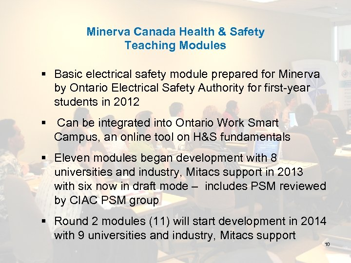 Minerva Canada Health & Safety Teaching Modules § Basic electrical safety module prepared for