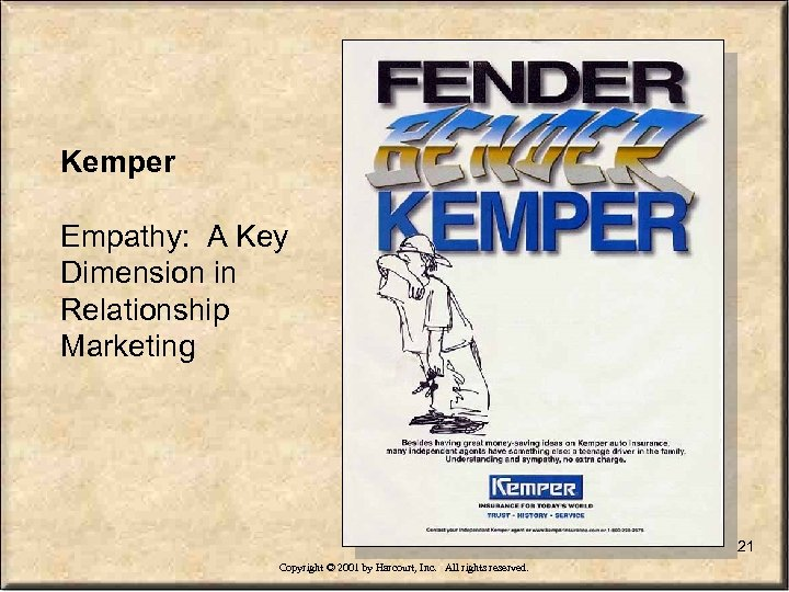 Kemper Empathy: A Key Dimension in Relationship Marketing 21 Copyright © 2001 by Harcourt,