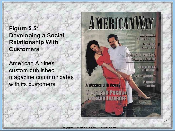 Figure 5. 5: Developing a Social Relationship With Customers American Airlines' custom published magazine