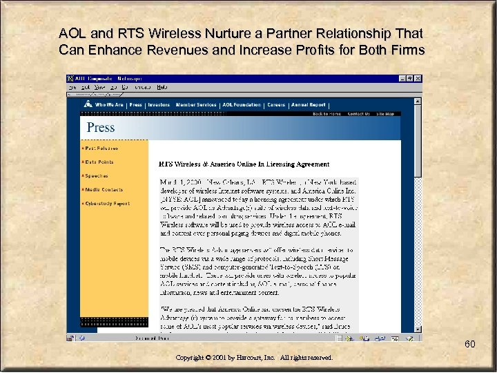 AOL and RTS Wireless Nurture a Partner Relationship That Can Enhance Revenues and Increase